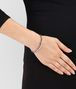 BOTTEGA VENETA BRACELET IN MIST SILVER AND ENAMEL WITH INTRECCIATO DETAIL Bracelet D ap