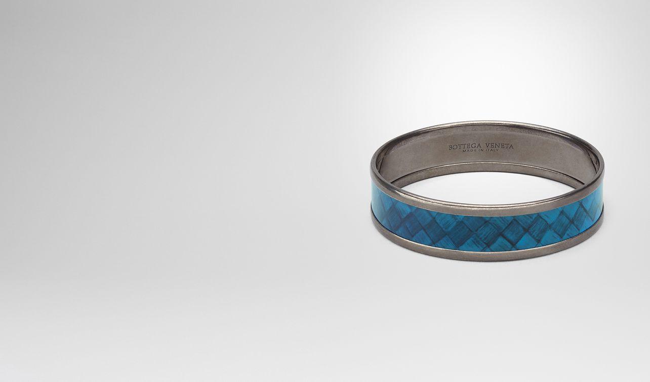 Bottega Veneta peacock copper bracelet - Blue NK1OXmFK