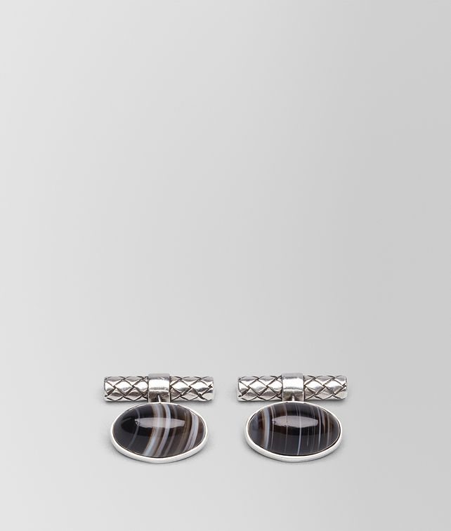 BOTTEGA VENETA CUFFLINKS IN AGATE AND SILVER Other Jewelry [*** pickupInStoreShippingNotGuaranteed_info ***] fp