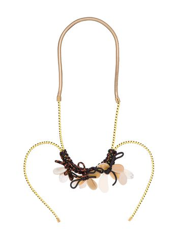 Marni Short stretch necklace in horn Woman