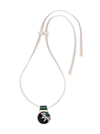 Marni Length-adjustable necklace in leather Woman