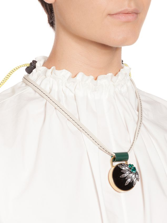 Marni Length-adjustable necklace in leather Woman - 2