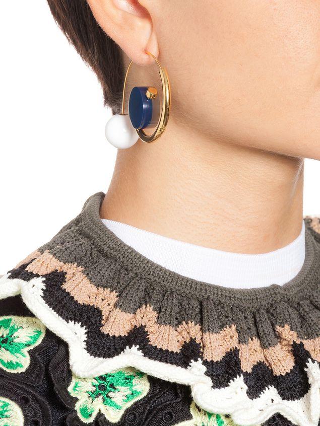 Marni Hook earrings in metal Woman - 2