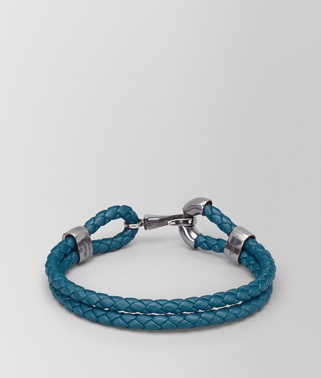 BOTTEGA VENETA BRACELET IN BRIGHTON INTRECCIATO NAPPA AND SILVER Bracelet U fp