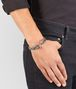 BOTTEGA VENETA BRACELET IN FUME INTRECCIATO NAPPA AND SILVER Bracelet Man ap