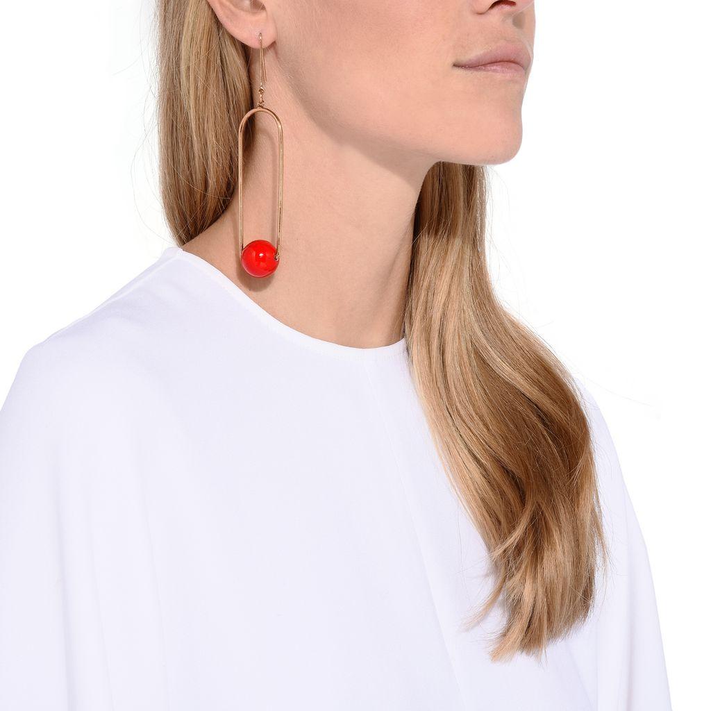 Red Suspended Drop Earring - STELLA MCCARTNEY