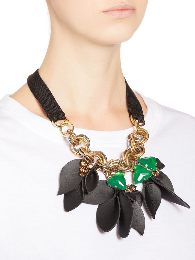 Marni Floral necklace in techno ribbon Woman - 2
