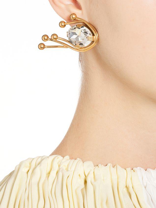 Marni Runway clip-on earrings in metal Woman - 2