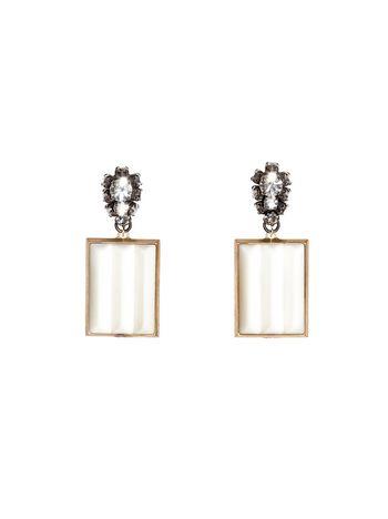 Marni Runway metal clip-on earrings Woman