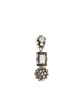 Marni Metal and crystal brooch Woman