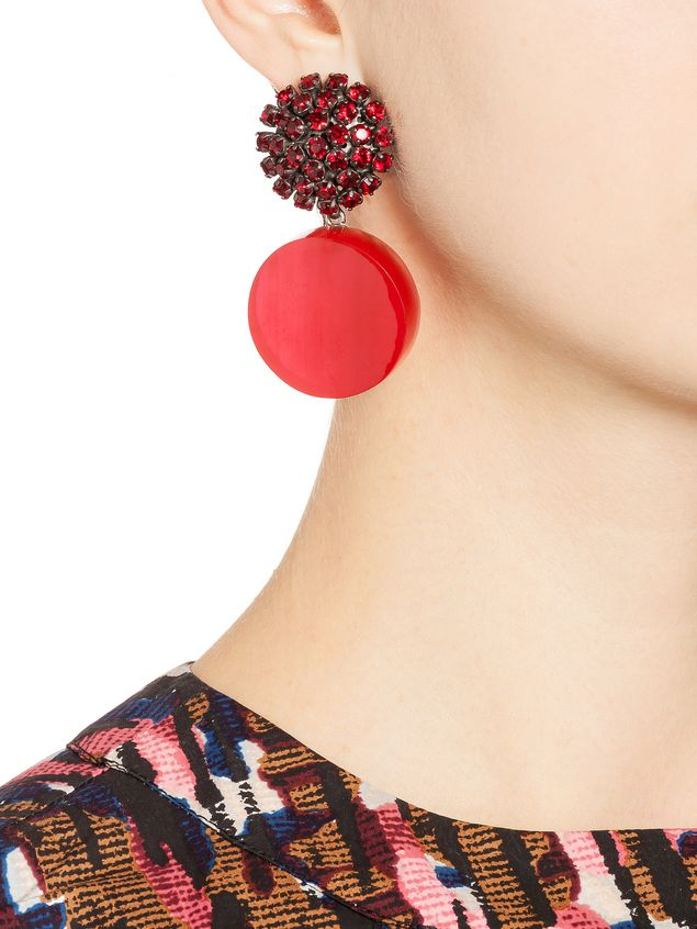 Marni Clip-on earrings in resin and strass Woman - 2