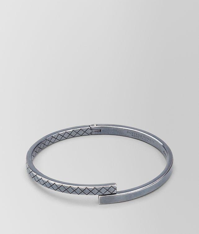BOTTEGA VENETA BRACELET IN STERLING SILVER, INTRECCIATO DETAILS Bracelet Man fp