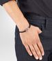 BOTTEGA VENETA BRACELET IN NERO INTRECCIATO NAPPA LEATHER STERLING SILVER, INTRECCIATO DETAILS Bracelet Man ap