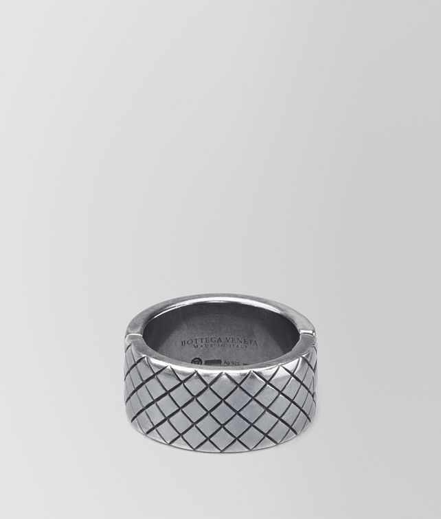 BOTTEGA VENETA RING IN STERLING SILVER, INTRECCIATO DETAILS Necklace and Ring U fp