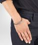 BOTTEGA VENETA BRACELET IN STEEL INTRECCIATO NAPPA LEATHER STERLING SILVER, INTRECCIATO DETAILS Bracelet Man ap