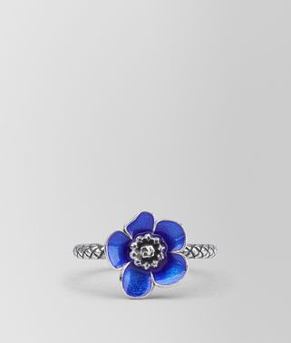 RING IN STERLING SILVER BRIGHT BLUE ENAMEL