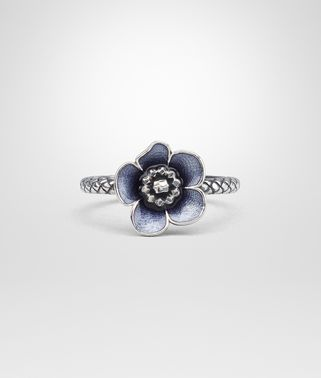 RING IN STERLING SILVER DARK BLUE ENAMEL