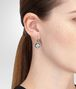 BOTTEGA VENETA EARRINGS IN STERLING SILVER NATURALE ARGENTO CUBIC ZIRCONIA, YELLOW GOLD ACCENTS Earrings Woman ap