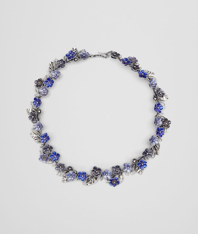 BOTTEGA VENETA NECKLACE IN STERLING SILVER MULTIBLUE ENAMEL Necklace [*** pickupInStoreShipping_info ***] fp