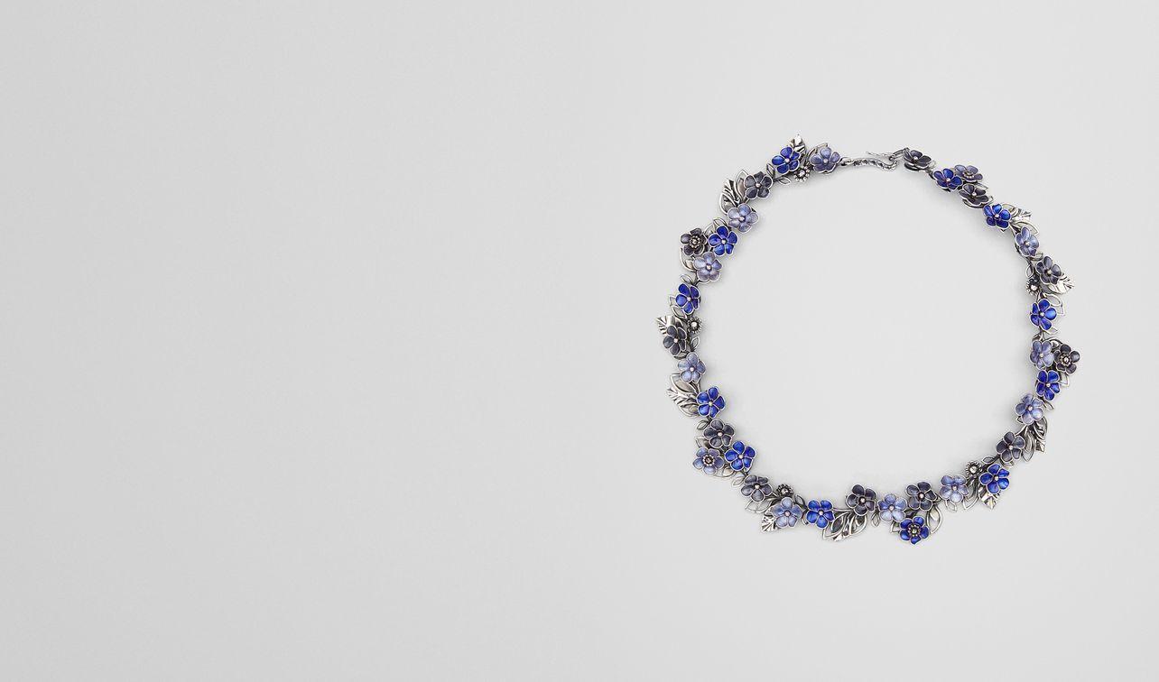 necklace in sterling silver multiblue enamel landing