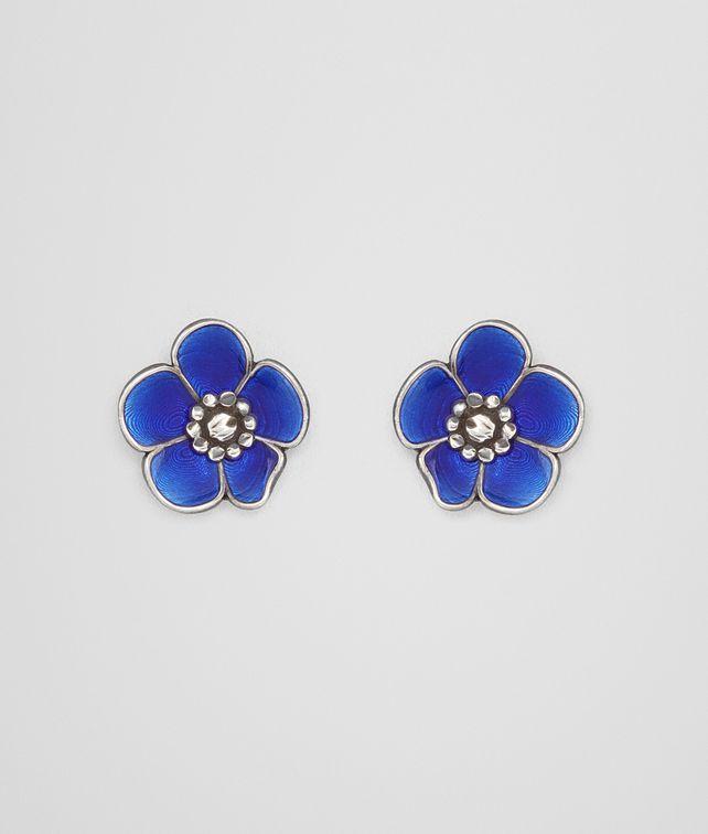 BOTTEGA VENETA EARRINGS IN STERLING SILVER BRIGHT BLUE ENAMEL Earrings [*** pickupInStoreShipping_info ***] fp
