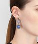 BOTTEGA VENETA EARRINGS IN STERLING SILVER BRIGHT BLUE ENAMEL Earrings Woman dp