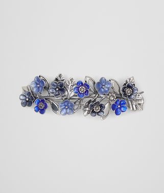HAIR CLIP IN STERLING SILVER MULTIBLUE ENAMEL
