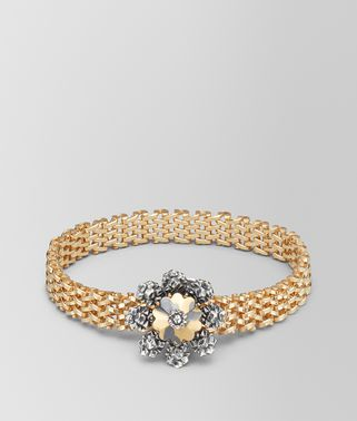 BRACELET IN STERLING SILVER, YELLOW GOLD PLATED