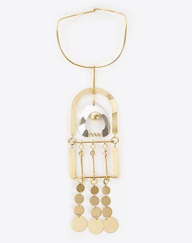 MAISON MARGIELA Necklace D Mixed media chrome necklace f