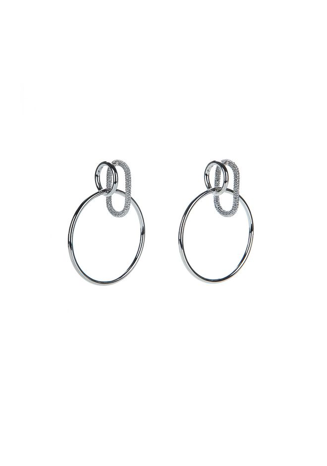 ALEXANDER WANG new-arrivals PAVE CRYSTALTRIPLE RING EARRINGS