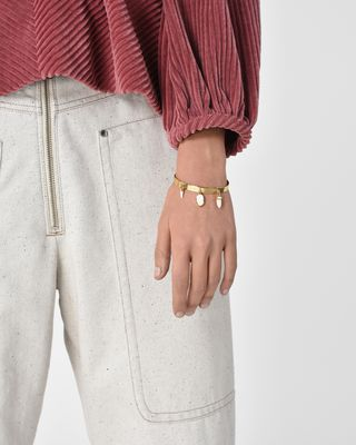 ISABEL MARANT BRACELET Woman Golden bracelet with charms d
