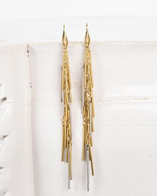Good swung asymmetric rod earrings