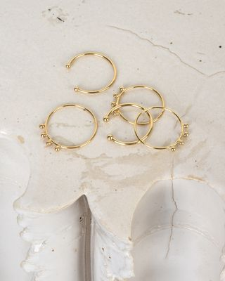 ISABEL MARANT RING Woman Clash set of 5 gold plated rings d