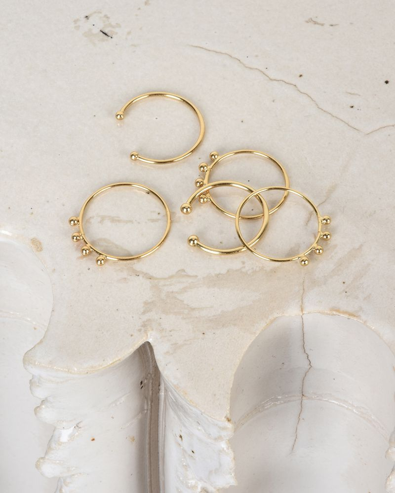 5 golden ring set ISABEL MARANT