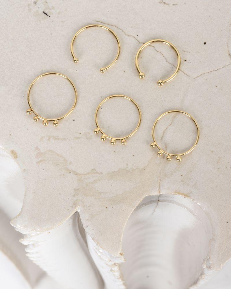 Lot de 5 bagues dorées ISABEL MARANT