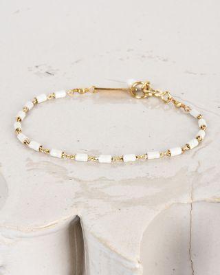 Bracelet doré avec émail