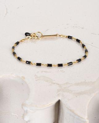 Enamel and gold bracelet