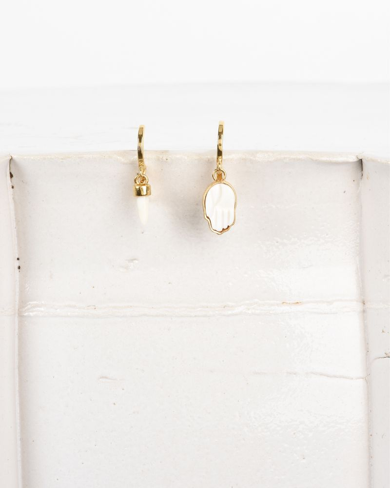 It S All Right Asymmetric Gold Tone Earrings Isabel Marant