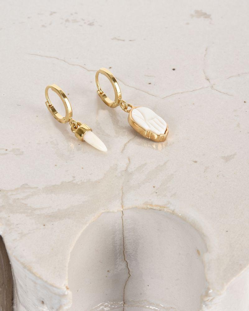 03a073fc3c ... It's all right Asymmetric gold-tone earrings ISABEL MARANT