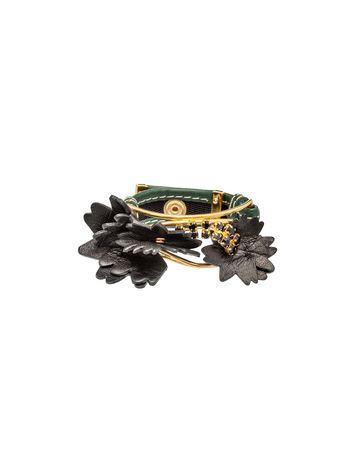 Marni Leather and crystal bracelet Woman