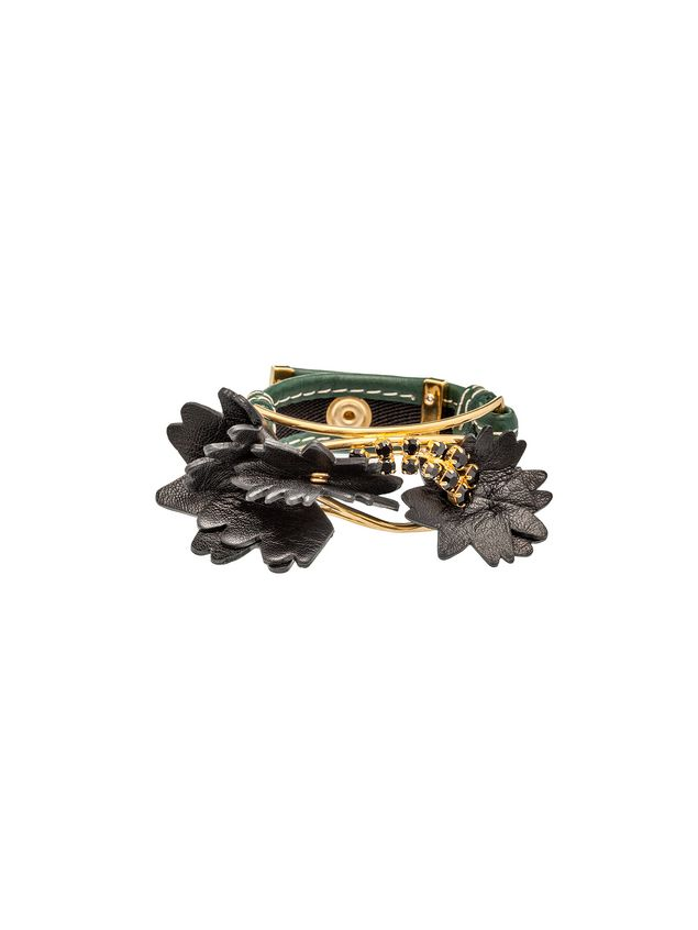 Marni Leather and crystal bracelet Woman - 1