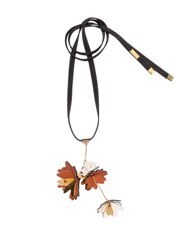 Marni Necklace in ribbon and leather Woman