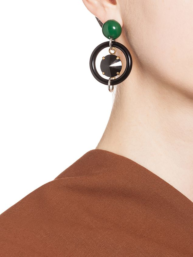 rendered marni metal feature multi pin earrings are these methacrylic in and