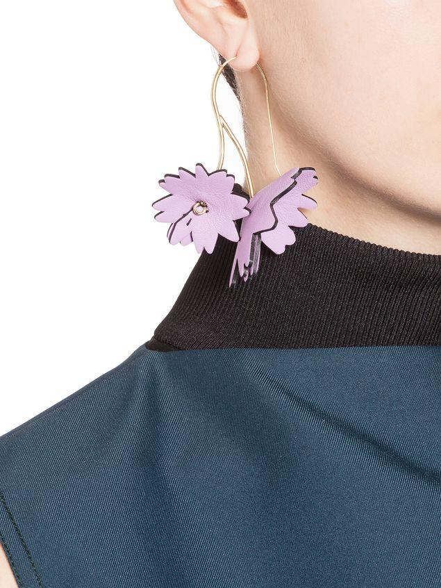 Marni Leather Flower earrings AldmaO7zI3