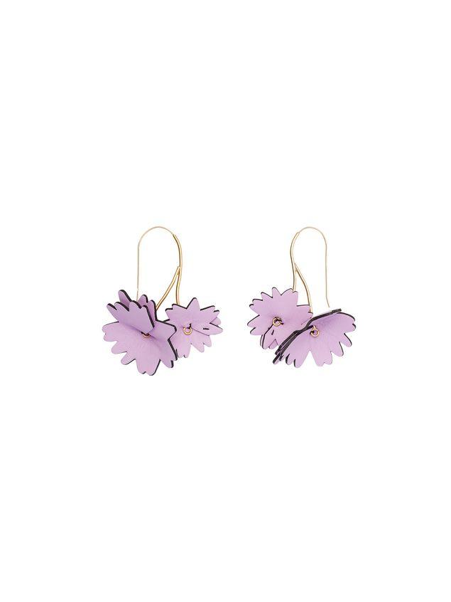 Marni Pink leather flower earrings Woman - 1
