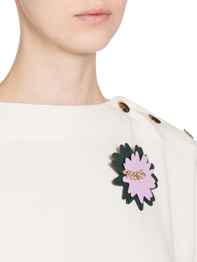 Marni Brooch in leather strass pink Woman - 2