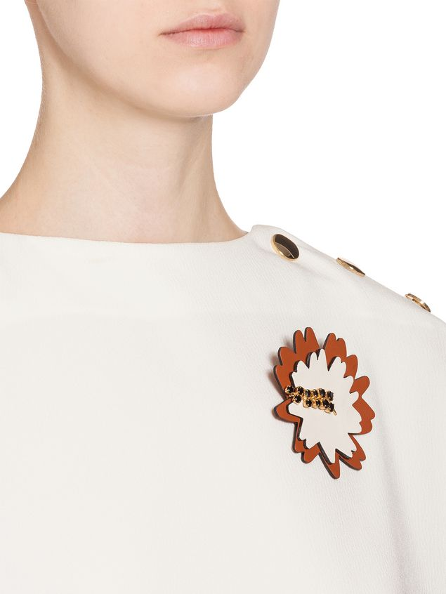 Marni Brooch in leather strass white Woman - 2