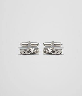 CUFFLINKS IN INTRECCIATO ANTIQUE SILVER