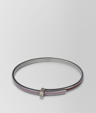 BRACELET IN GLICINE SILVER AND BAROLO ENAMEL WITH INTRECCIATO DETAIL