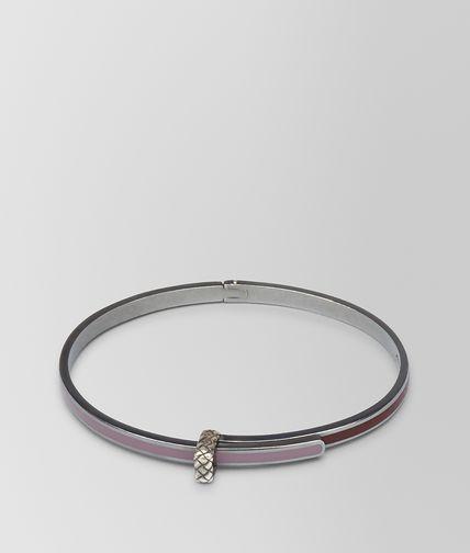 BOTTEGA VENETA Bracelet D BRACELET IN GLICINE SILVER AND BAROLO ENAMEL fp